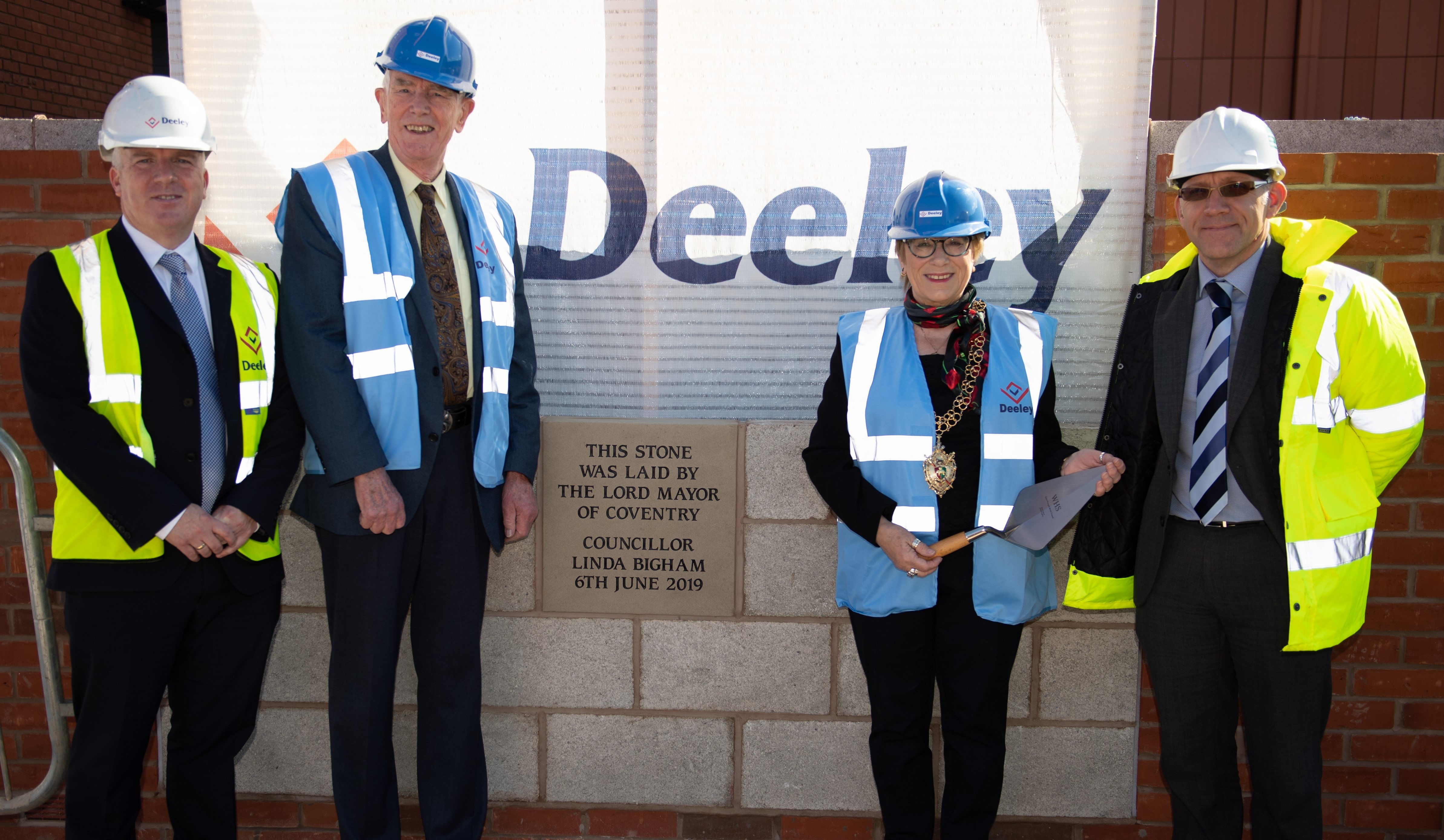 Image for Foundation stone laid at Coventry city centre apartment block for elderly