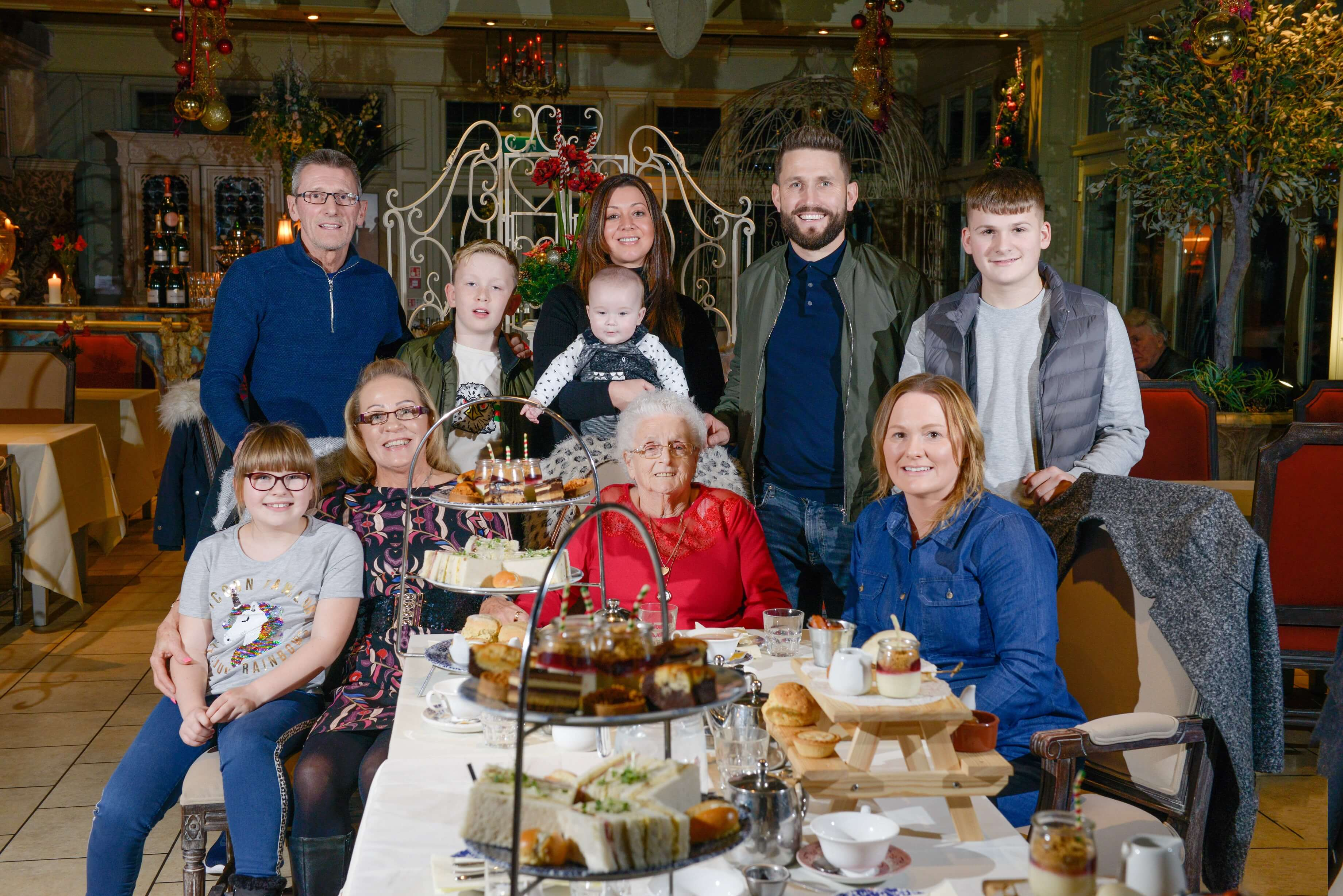 93-year-old Great-Grandma with 73 great grandkids treated to afternoon tea at Coombe Abbey with four generations